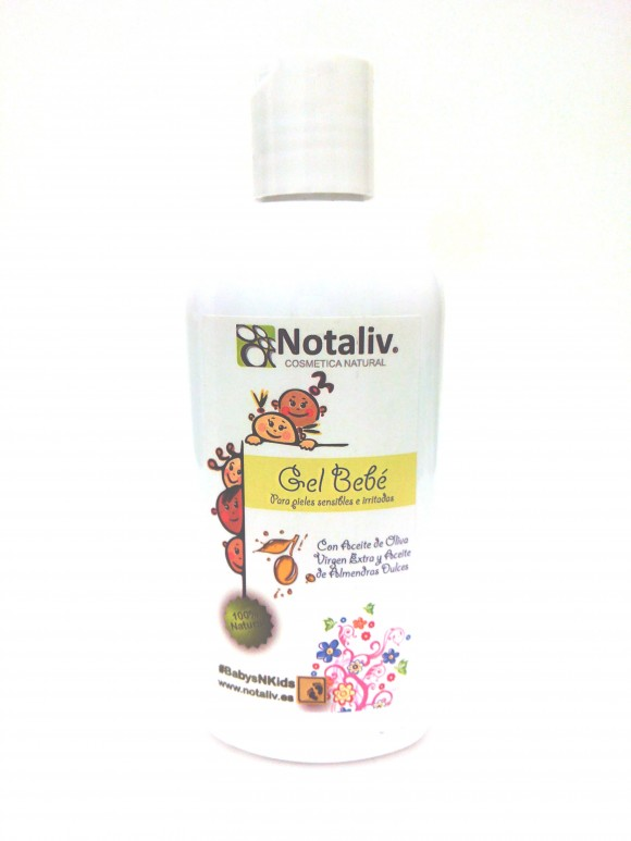 200-032 GEL NATURAL BEBÉ ALMENDRAS DULCES Y AOVE 200 mL.
